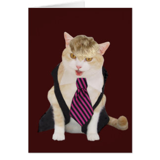 Lustiger Chef-Katzen-Valentinsgruß Karte