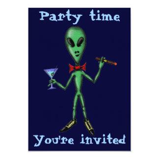Lustiger cooler alien-Party 12,7 X 17,8 Cm Einladungskarte
