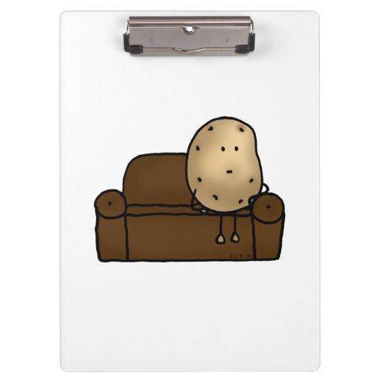 lustiger Couchkartoffel-Cartoon Klemmbrett