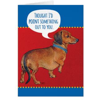 Lustiger Dackel-Hund (Dackel) altes Alter Karte