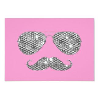 Lustiger Diamant-Schnurrbart mit Gläsern 8,9 X 12,7 Cm Einladungskarte