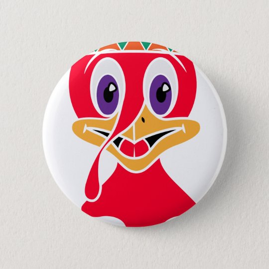 Lustiger die Türkei-Erntedank-Tag Runder Button 5,7 Cm
