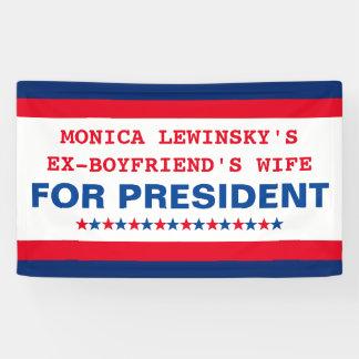Lustiger Donald Trump für Präsidenten Fahne 2016 Banner