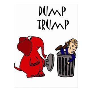 Lustiger Dump-Trumpf-politische Cartoon-Kunst Postkarte