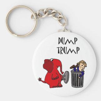 Lustiger Dump-Trumpf-politische Cartoon-Kunst Standard Runder Schlüsselanhänger