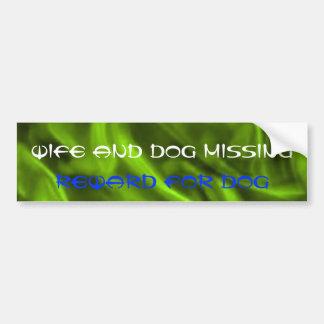 Lustiger Ehefrau-und HundeAutoaufkleber Autoaufkleber
