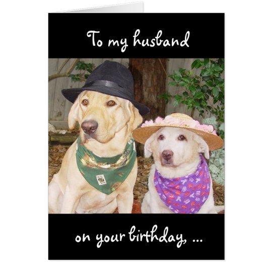 Lustiger Ehemann-Geburtstag Grußkarte
