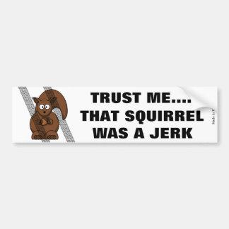 Lustiger Eichhörnchen-Autoaufkleber Autoaufkleber