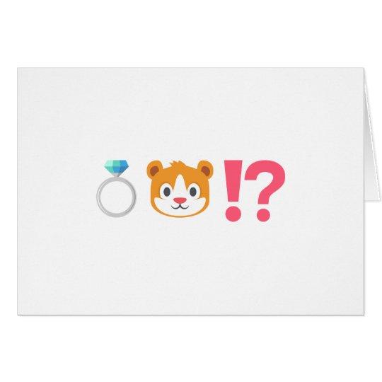Lustiger Emoji Ring-Träger-Antrag Grußkarte