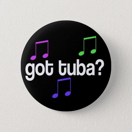 Lustiger erhaltener Tuba-Musik-Knopf Runder Button 5,7 Cm