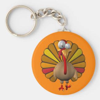 Lustiger Erntedank die Türkei Standard Runder Schlüsselanhänger