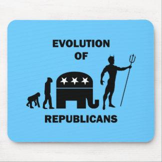 Lustiger Evolution Republikaner Mauspads