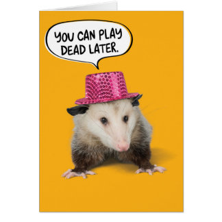 Lustiger fantastischer Opossum-Geburtstag Karte