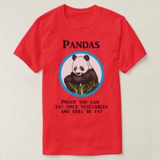Lustiger fetter Panda, Gemüse arbeiten nicht T-Shirt