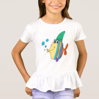 lustiger Fischkindertier-Cartoon T-Shirt