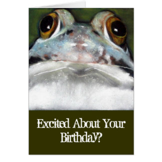 Lustiger Frosch, Geburtstags-Karte: Ursprüngliche Karte