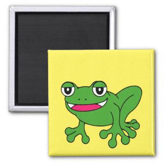 Lustiger Frosch Quadratischer Magnet