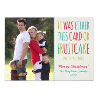 Lustiger Fruchtkuchen frohe Feiertage 12,7 X 17,8 Cm Einladungskarte
