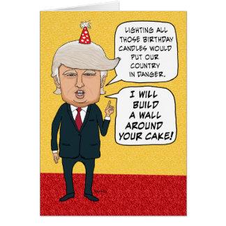 Lustiger Geburtstag: Donald Trump errichtet eine Grußkarte