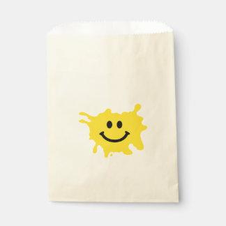 lustiger gelber Lächelnsport Geschenktütchen