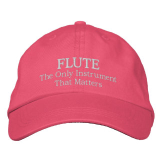Lustiger gestickter Flöten-Musik-Kappen-Hut Bestickte Baseballkappe