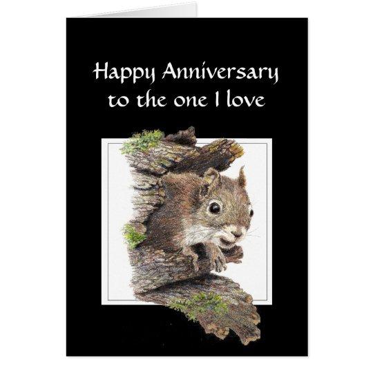 Lustiger glücklicher Jahrestag, ein i-Liebe Grußkarte