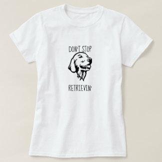 Lustiger goldener Retriever-grundlegender T - T-Shirt