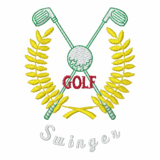 Lustiger Golf-Logo-lebenslustiger Typ gestickt Besticktes Shirt
