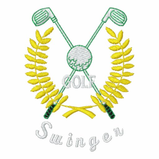 Lustiger Golf-Logo-lebenslustiger Typ gestickt Bestickte Polos