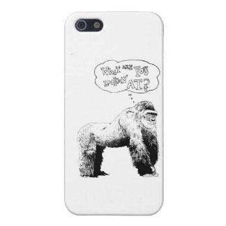Lustiger Gorilla iPhone 5 Schutzhüllen