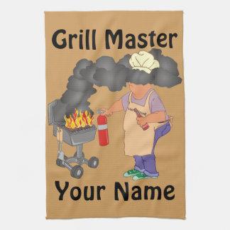 Lustiger Grill-Meister personalisiert Handtuch