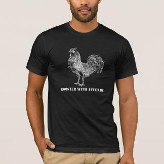 Lustiger Hahn des Hahn-| mit Haltung T-Shirt