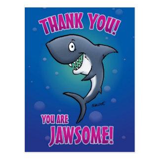 Lustiger Haifisch danken Ihnen Postkarte