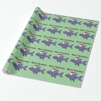 Lustiger Haifisch in der Geschenkpapier