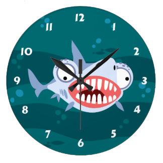 Lustiger Haifisch Wanduhren