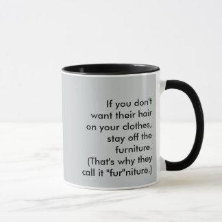 Lustiger Haustier-Humor! Tasse