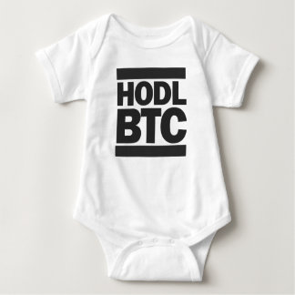 Lustiger HODL BTC Bitcoin Cryptocurrency Druck Baby Strampler