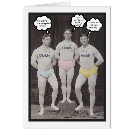 Lustiger homosexueller Geburtstag Grußkarte