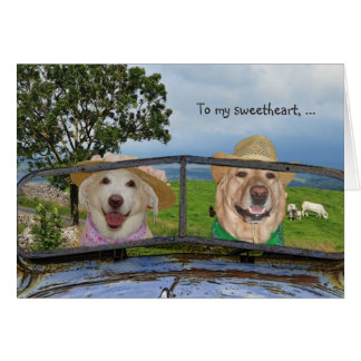 Lustiger HundeValentinsgruß für Schatz Karte