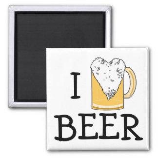 Lustiger i-Herz-Bier-Schaum Magnets