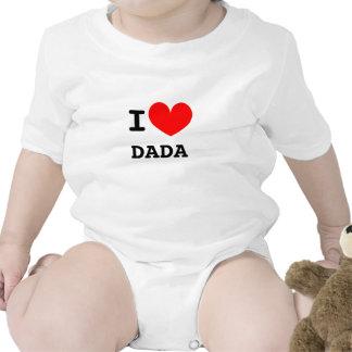 Lustiger i-Herz dada Säuglingsbodysuit | scherzt Babybodys