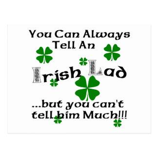 Lustiger irischer junger Mann Postkarte
