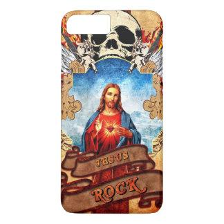 Lustiger Jesus-Felsen iPhone 7 Plus Hülle