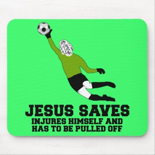 Lustiger Jesus rettet Mauspad