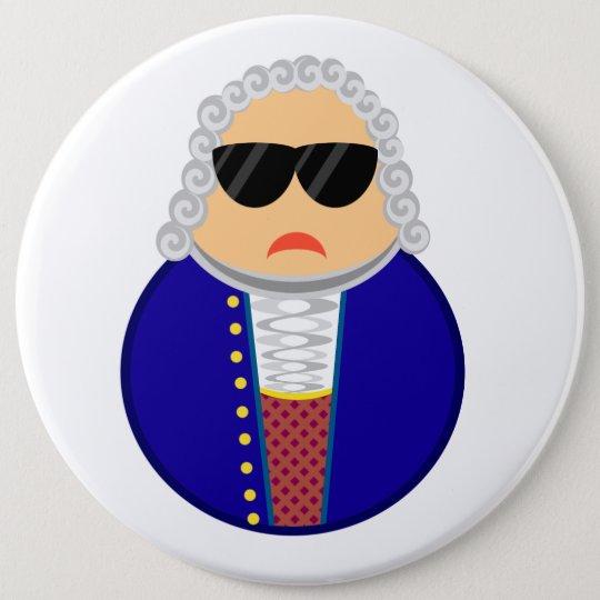 Lustiger Johann Sebastian Bach-Komponist Runder Button 15,3 Cm