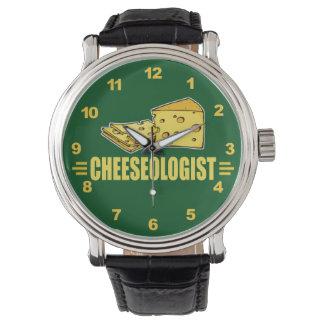 Lustiger Käse Cheeseologist Cheesehead Armbanduhr