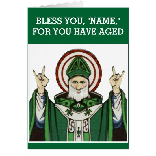 lustiger katholischer Geburtstag Grußkarte