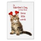 Lustiger Kätzchen-Valentinsgruß Karte