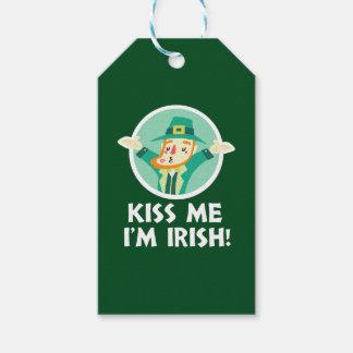 Lustiger Kobold küssen mich, den ich irischer Geschenkanhänger