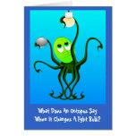 Lustiger Kraken-Geburtstag Grußkarte